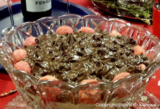 Zuppa inglese alla vaniglia Bourbon Madagascar e cioccolato fondente