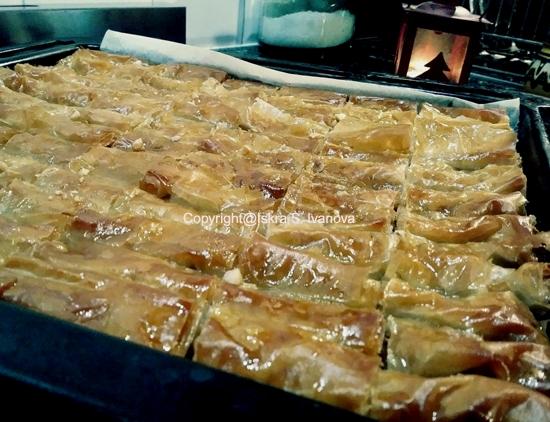 Baklavà, Mille foglie di pasta fillo e frutta secca